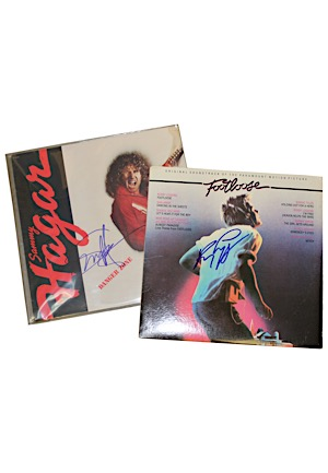 "Sammy Hagar ""Danger Zone"" & Kenny Loggins ""Footloose"" Autographed Albums (2)(JSA • PSA/DNA)"