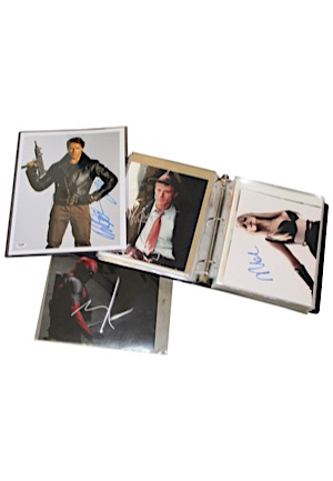 Large Grouping Of Movie Stars Autographed Photos Including Schwarzenegger, Hanks, Murray, DeNiro, Sandler & Many Others (71)(JSA • PSA/DNA)