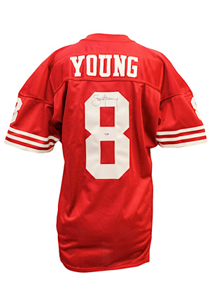 1995 Steve Young San Francisco 49ers Game-Used & Autographed Red Jersey (JSA • PSA/DNA)