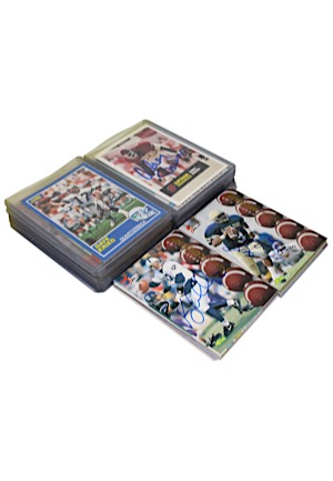 Large Grouping Of Autographed Football Cards (48)(JSA)