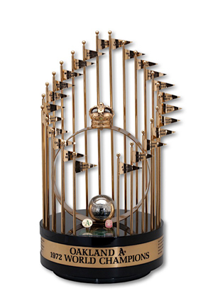 1972 Oakland As World Series Full Size Trophy (George Hendrick LOA)