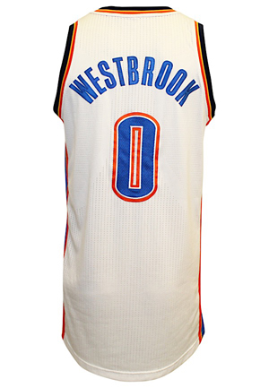 2012-13 Russell Westbrook Oklahoma City Thunder Game-Used Home Jersey