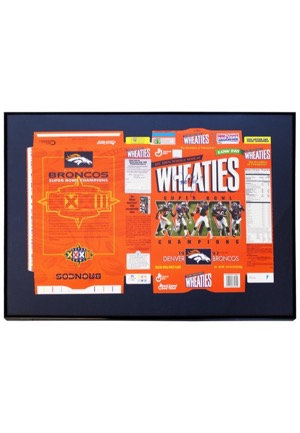 1997 John Elway Denver Broncos Single-Signed LE Framed Full Wheaties Box (JSA • NFL Hologram • Championship Season)