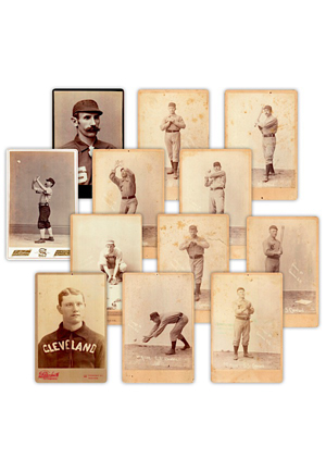 Late 1800s Cleveland Spiders & Others Baseball Cabinet Cards (12)