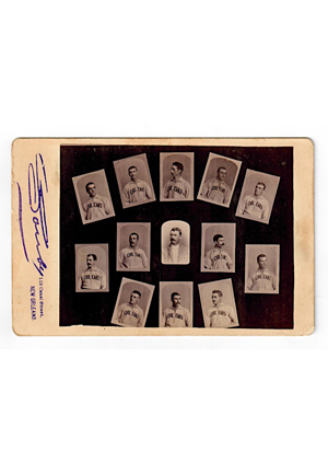 Circa 1887 New Orleans Pelicans Team Cabinet Photo