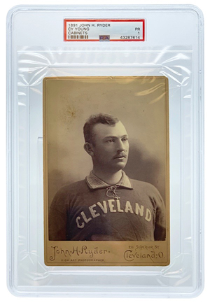Newly Discovered 1891 John H. Ryder Cy Young Cabinet Card (PSA/DNA PR 1 • One Of Only Two Known)