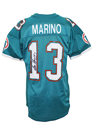 1989 Dan Marino Miami Dolphins Game-Used & Autographed Jersey (JSA • Sourced From A Retired NFL Player)