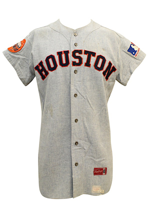 1969 Jimmy Wynn Houston Astros Game-Used Road Flannel Jersey (Graded A8.5)