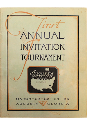 "Newly Discovered 1934 First Annual ""The Masters"" Invitational Tournament Program (Exceedingly Rare)"