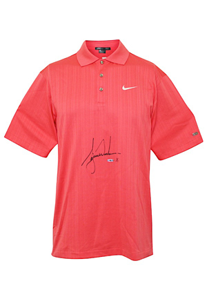 2006 Tiger Woods Masters Tournament-Worn & Autographed Signature Sunday Red Polo Shirt (JSA • UDA 1of1)