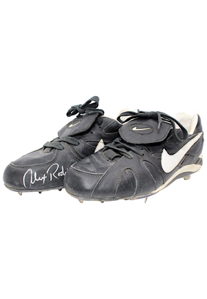 1994 Alex Rodriguez Seattle Mariners Rookie Game-Used & Dual-Autographed Cleats (JSA • PSA/DNA • Rodriguez LOA)