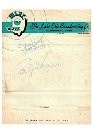 Rocky Marciano Single-Signed Cut (JSA)