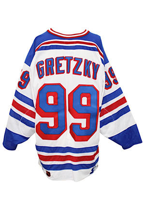 1998-99 Wayne Gretzky New York Rangers Team-Issued Jersey (Set 2 Team Tagging)