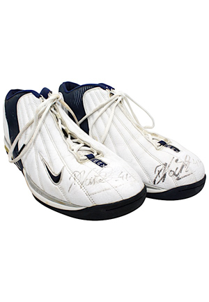 Dirk Nowitzki Dallas Mavericks Game-Used Custom Sneakers (JSA • Ball Boy LOA)