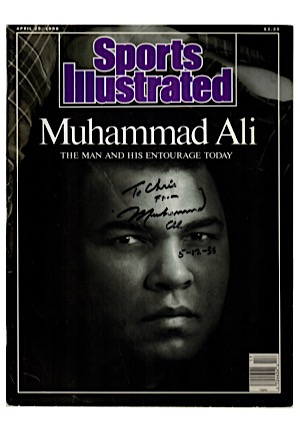 1988 Muhammad Ali Autographed & Inscribed Sports Illustrated Program (JSA)