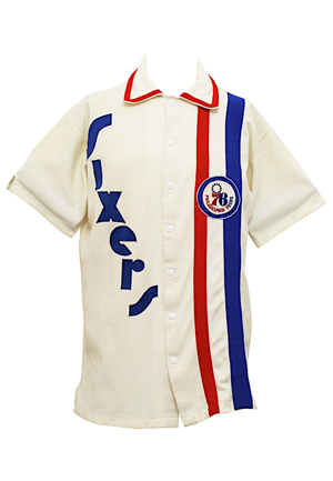 Mid 1970s Philadelphia 76ers Player-Worn Warm-Up Jacket (Rare Style)