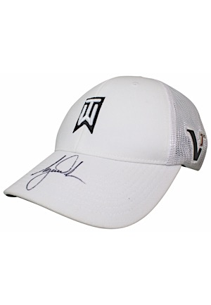 Tiger Woods Single-Signed Nike Golf Hat (Full JSA)