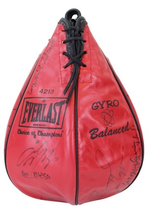 Boxing Legends Multi-Signed Speed Bag Featuring Frazier, Patterson, Ortiz & Many More (Full JSA)