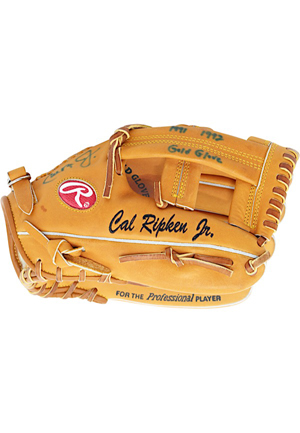 Cal Ripken Jr. Baltimore Orioles Autographed & Inscribed Player Model Glove (JSA • MLB Authenticated)