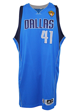 2011 Dirk Nowitzki Dallas Mavericks Game-Used NBA Finals Jersey (NBA LOA • Photo-Matched & Graded 10 • Finals MVP & Championship Season)