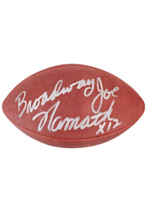 """Broadway"" Joe Namath Single-Signed & Inscribed Wilson Official Football (JSA)"