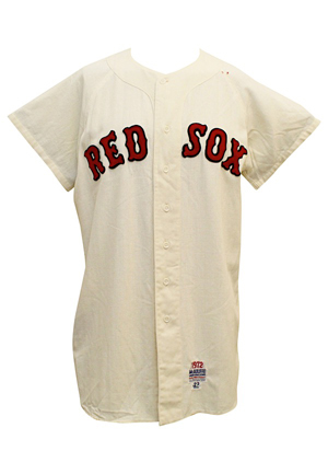 1972 Cecil Cooper Boston Red Sox Game-Used Rookie Home Flannel Jersey (Last Year Of Flannels)