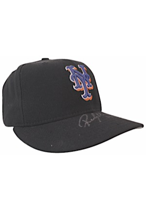 1999 New York Mets Game-Used & Autographed Cap & Cleats Attributed To Rickey Henderson (2)(JSA • Henderson Hologram)