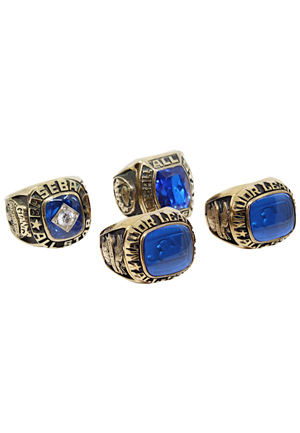 1984-87 MLB & Oakland As All-Star Rings (4)