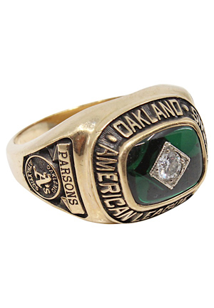 1990 Casey Parsons Oakland As American League Champions Ring