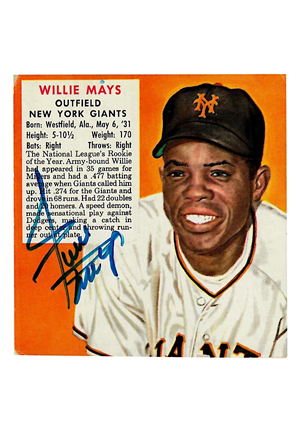 1954 Red Man Tobacco Willie Mays Autographed Card (JSA)