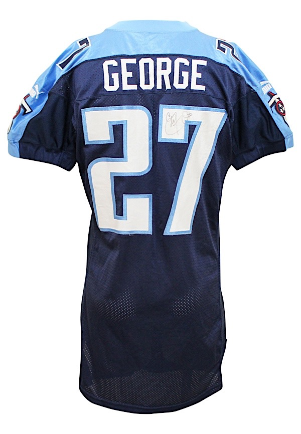 differently 60392 b0fad Lot Detail - 2000 Eddie George Tennessee Titans Game-Used ...
