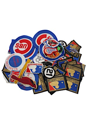 Large Grouping Of Sports Patches Including 2 Roberto Clementes, NFL 50th, Two 1984 Cubs, 34 1994 MLB & Many Others
