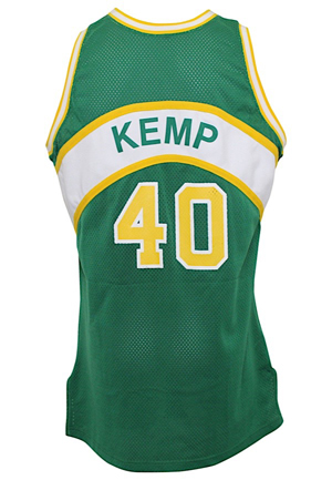 1993-94 Shawn Kemp Seattle SuperSonics Game-Used Road Jersey