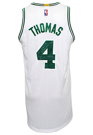 2016-17 Isaiah Thomas Boston Celtics Game-Used & Autographed Uniform (2)(JSA • Fanatics & Thomas LOA)