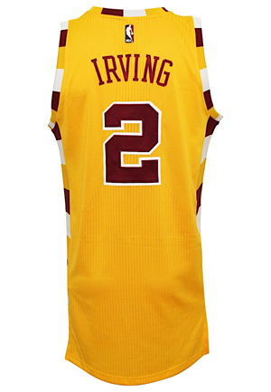 2015-16 Kyrie Irving Cleveland Cavaliers Game-Used HWC Jersey (NBA LOA • Photo-Matched & Graded 10 • Championship Season)