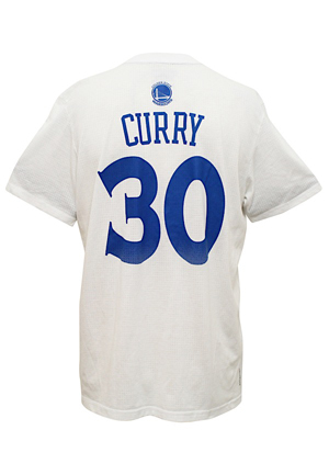 2015 Stephen Curry Golden State Warriors Player-Worn NBA Finals Shooting Shirt (MVP & Championship Season • Sourced From The Locker Room)