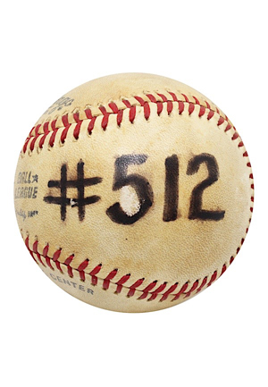 6/9/1979 Willie McCovey Game-Used Home Run #512 ONL Baseball (9th All-Time In Career HRs Passing Mel Ott)