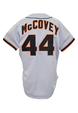 1987 Willie McCovey San Francisco Giants Coaches-Worn Road Uniform (2)