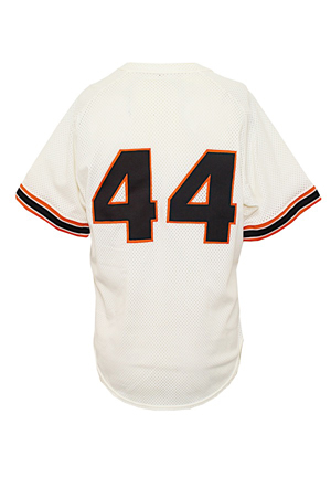1980s Willie McCovey San Francisco Giants Coaches-Worn Batting Practice Top