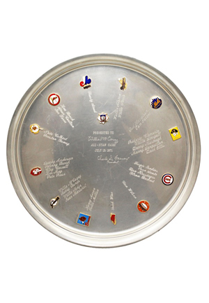 1971 Willie McCovey San Francisco Giants All-Star Game Platter
