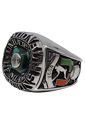 1982 Miami Hurricanes NCAA Baseball Championship Ring