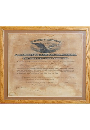 3/15/1922 Warren G. Harding Autographed Original Land Register Presidential Document (JSA)