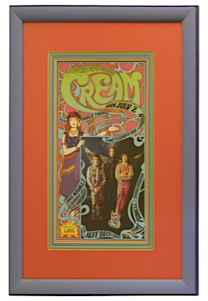 """Cream"" 1967 Saville Theatre, London Concert Psychedelic Lithograph Poster"