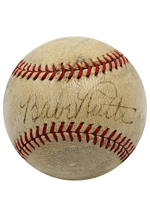 Late 1930s Babe Ruth Single-Signed OAL Baseball (Full JSA)