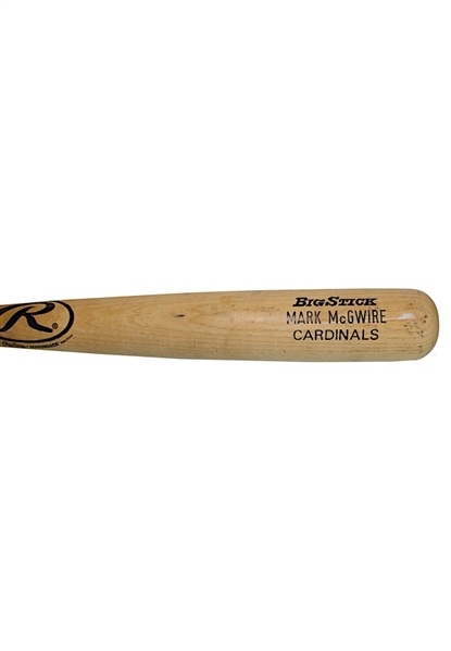 1998 Mark McGwire St. Louis Cardinals Game-Used Bat (PSA/DNA Pre-Cert • 70 HR Season)