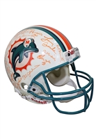 1972 Miami Dolphins Team-Signed Riddell Helmet (JSA • Undefeated Season)