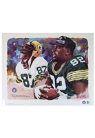 "Reggie White & Willie Davis Green Bay Packers ""Signature Series"" Dual-Signed & Reggie White Single-Signed ""Triple Threat"" Large Format LE Prints (2)(JSA • Photo Of Them Signing)"