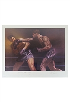"1970s Joe Louis & Max Schmeling Dual-Signed Sports Illustrated LE ""Living Legends"" Print (JSA)"
