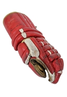 1971 Gordie Howe Detroit Red Wings Game-Used & Autographed Single Glove Attributed To His Final Home Game W/ Detroit (JSA • Originally Sourced From Howe • Perfect Style Match • Detailed LOP)