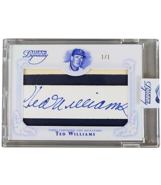 "2015 Ted Williams Autographed Topps ""Dynasty"" LE Baseball Card (JSA • 1/1)"